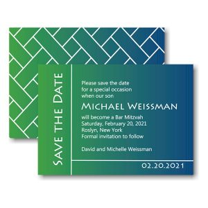 Michael David Save the Date Card Sample