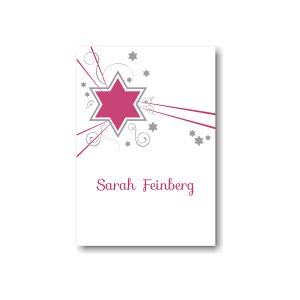 Shooting Star in Fuchsia Informal Note