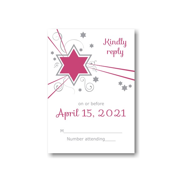 Shooting Star in Fuchsia Response Card