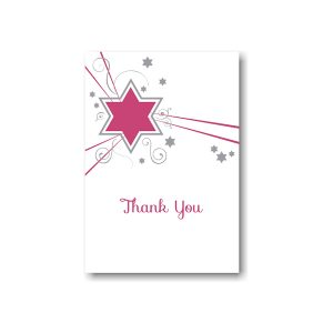 Shooting Star in Fuchsia Thank You Note