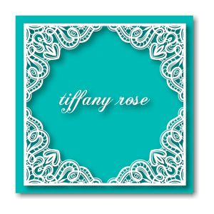 Tiffany Rose Bat Mitzvah Invitation Backside