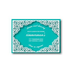 Tiffany Rose Reception Card