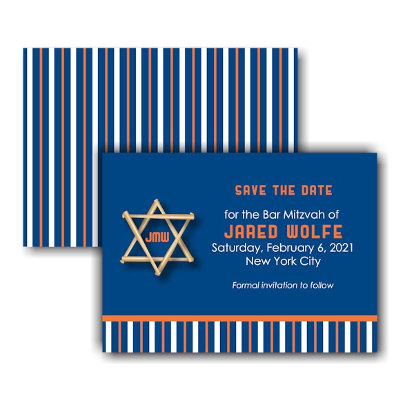 All Star NYM Save the Date Card Sample
