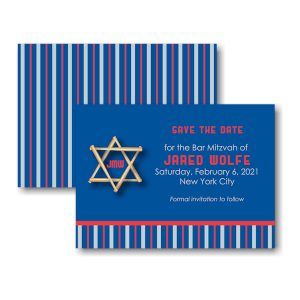 All Star NYY Baseball Save the Date Card