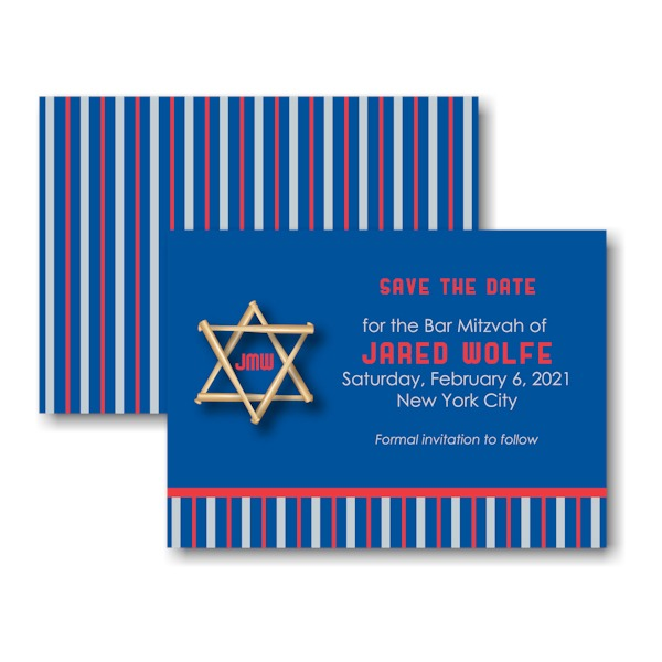 All Star NYY Save the Date Card Sample