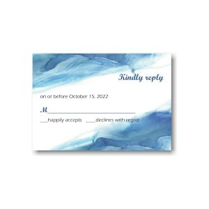 Blue Watercolor Response Card
