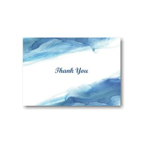 Blue Watercolor Thank You Note