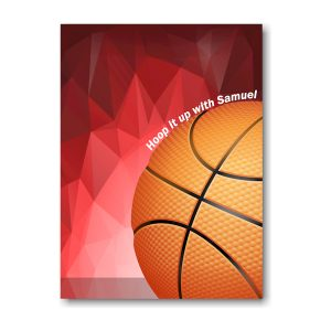 Hoop it Up Bar Mitzvah Invitation Backside