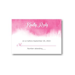 Pink Watercolor Response Card