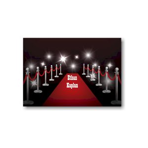 Red Carpet Bar Mitzvah Informal Note