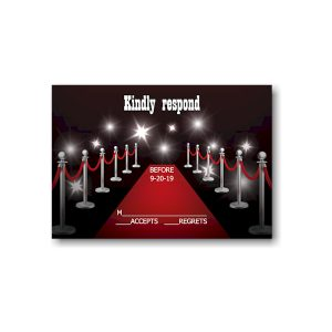 Red Carpet Bar Mitzvah Response Card