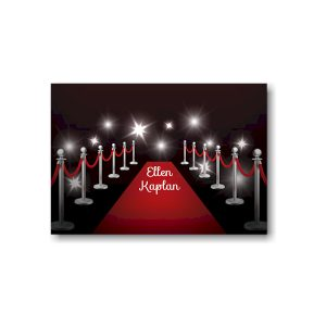 Red Carpet Bat Mitzvah Informal Note