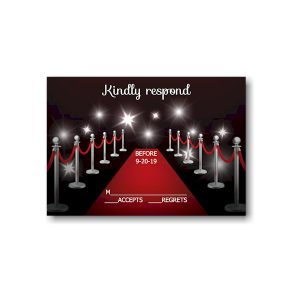 Red Carpet Bat Mitzvah Response Card