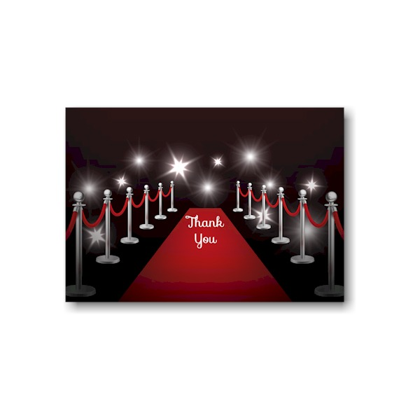 Red Carpet Bat Mitzvah Thank You Note