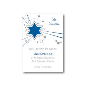 Shooting Star in Blue Reception Card