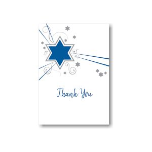 Shooting Star in Blue Thank You Note