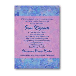Talia Elizabeth Bat Mitzvah Invitation