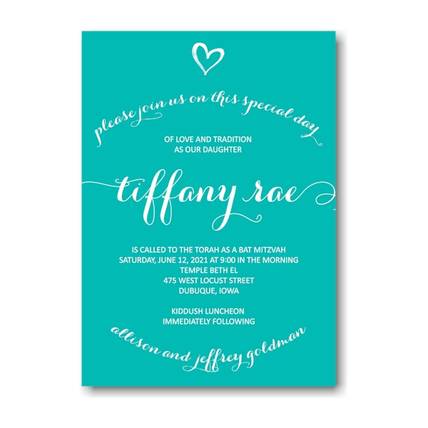 Tiffany Rae Bat Mitzvah Invitation