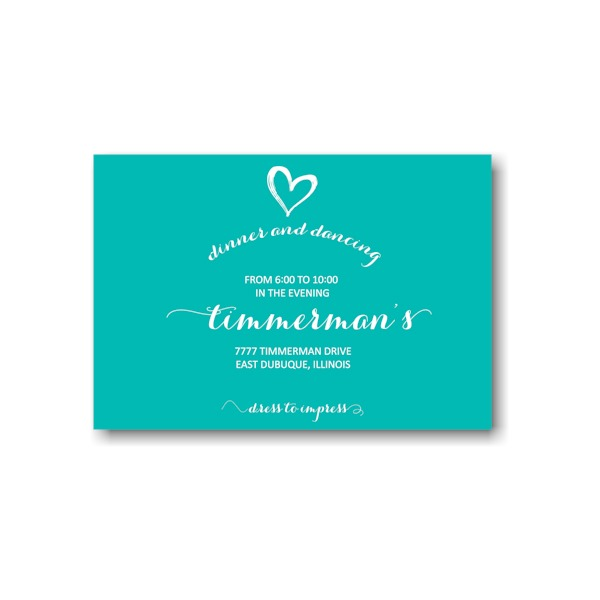 Tiffany Rae Reception Card