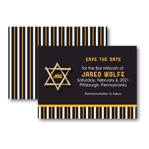 All Star PIT Baseball Save the Date Card Sample