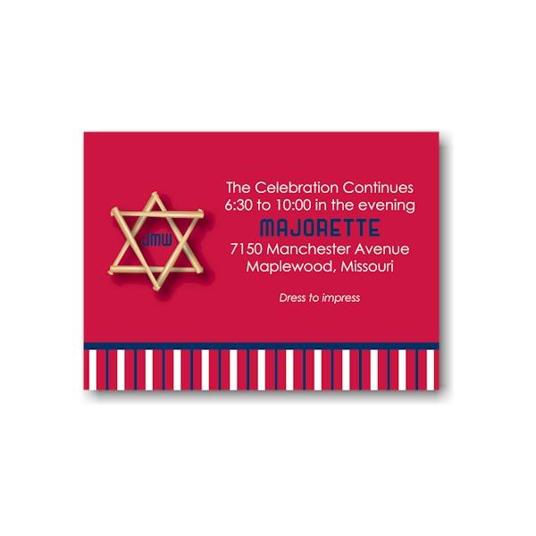 All Star STL Reception Card