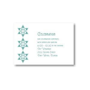 Celebration Stars Reception Card