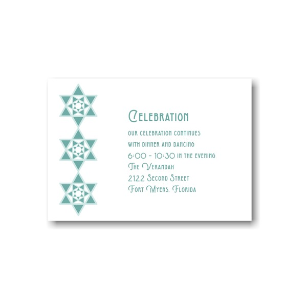 Celebration Stars Reception Card