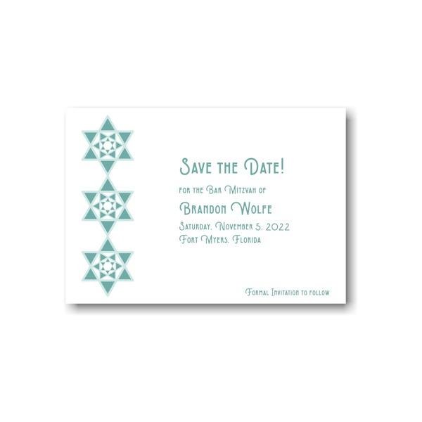 Celebration Stars Save the Date Card Sample