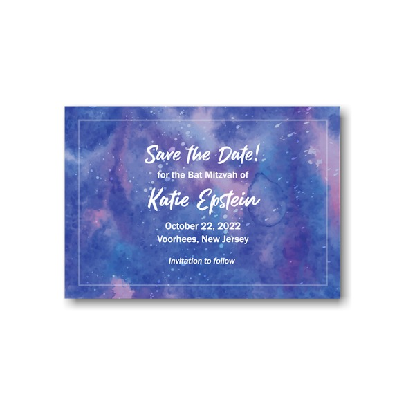 Out of This World Save the Date Card Sample