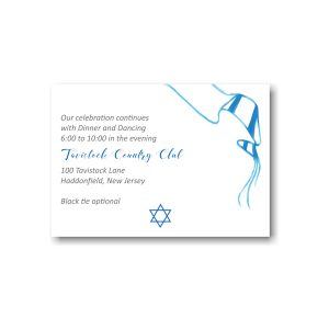 Sketched Tallit Reception Card