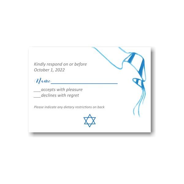 Sketched Tallit Response Card