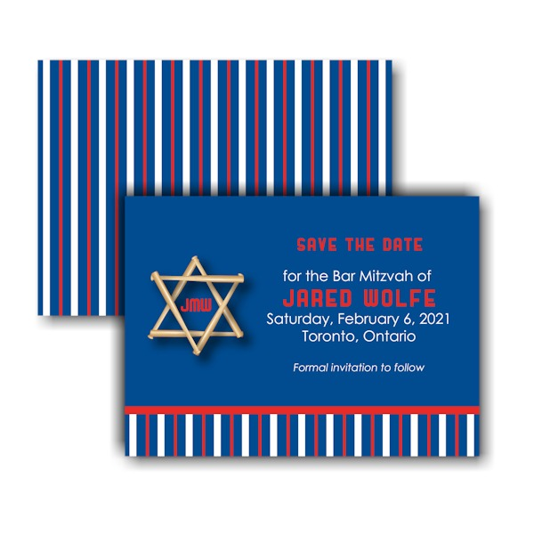 All Star TOR Save the Date Card Sample