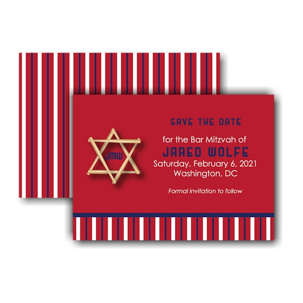 All Star WSH Save the Date Card Sample
