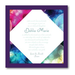 Blissful Bubbles Bat Mitzvah Invitation