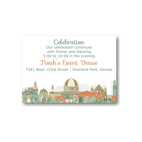 Joyful Jerusalem Reception Card