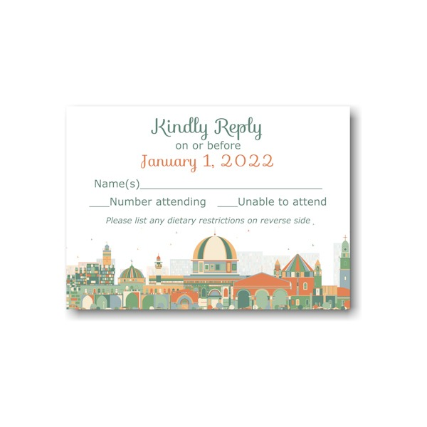 Joyful Jerusalem Response Card