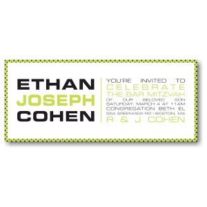 Namely Yours Bar Mitzvah Invitation Sample