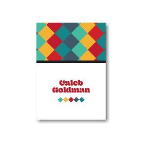Color Blocks Bar Mitzvah Informal Note