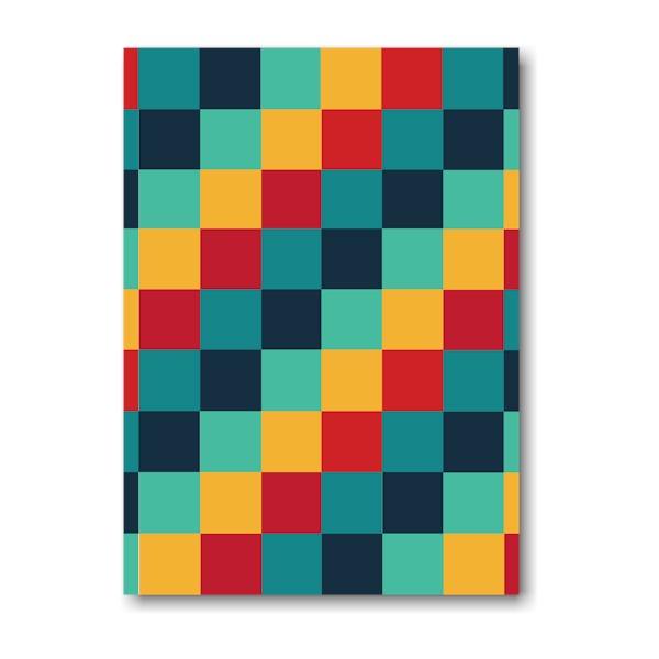 Color Blocks Bar Mitzvah Invitation Optional Backside