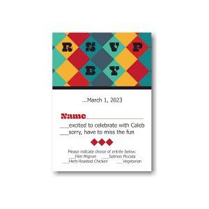 Color Blocks Bar Mitzvah Response Card