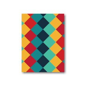 Color Blocks Bar Mitzvah Save the Date Card Optional Backside