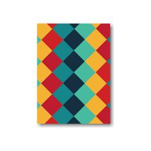 Color Blocks Bar Mitzvah Save the Date Card Optional Backside