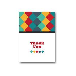 Color Blocks Bar Mitzvah Thank You Note