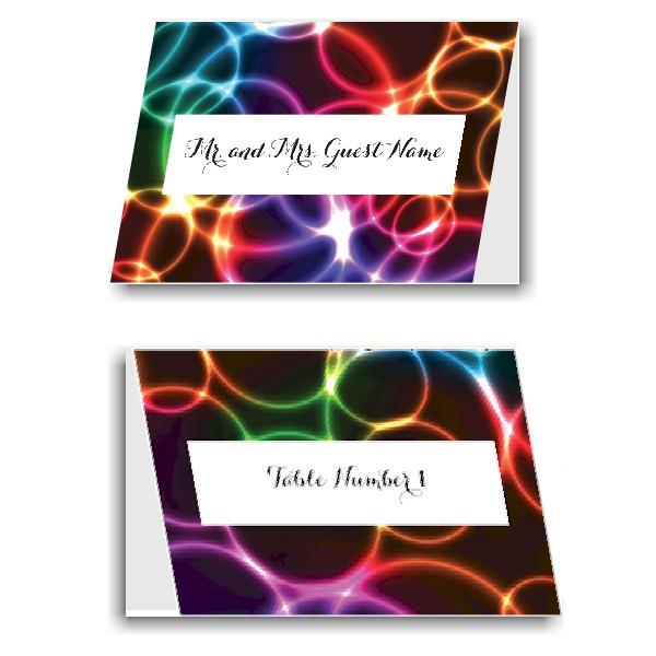 Neon Bubbles Place Cards
