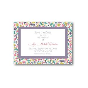 Trendy Terrazzo Save the Date Card Icon