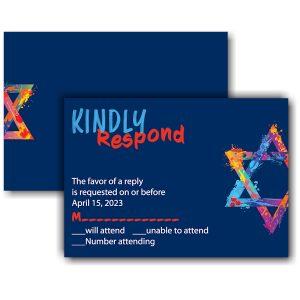 Graffiti Splash Blue Response Card