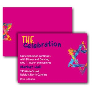 Graffiti Splash Pink Reception Card