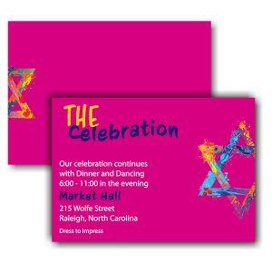 Graffiti Splash Pink Reception Card