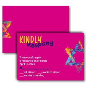 Graffiti Splash Pink Response Card