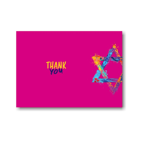 Graffiti Splash Pink Thank You Note